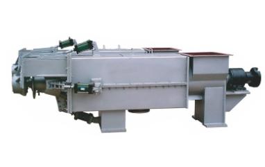 Single helix squeeze pulp machine
